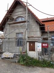 Komunitní centrum Slabčice - příprava na fasádu